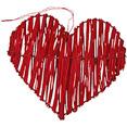 Coeurs en rotin rouge