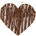Coeurs en rotin chocolat