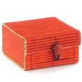 Boîtes à secrets en bambou, rouge