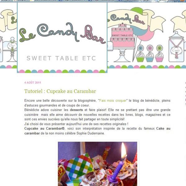 Le blog Candy bar traite des buffets sucrés