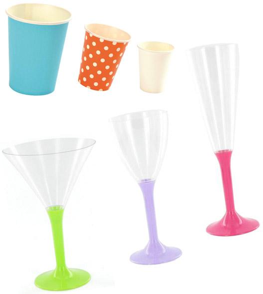 Vaisselle jetable : les verres