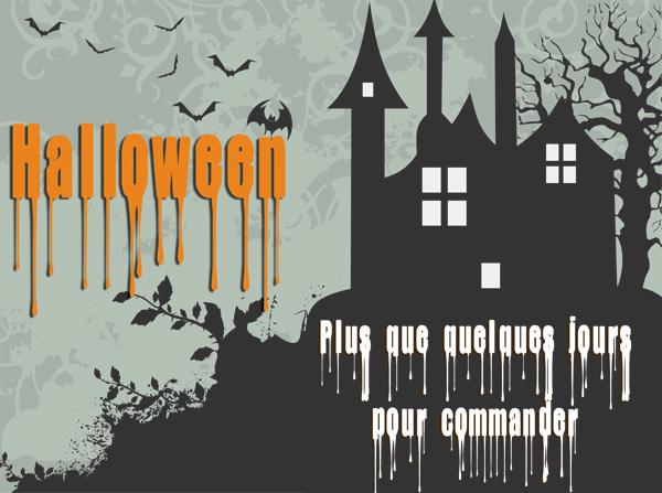 Halloween : derniers jours pour commander !