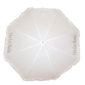 Ombrelle de mariés blanche