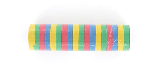 Rouleaux de serpentins multicolores