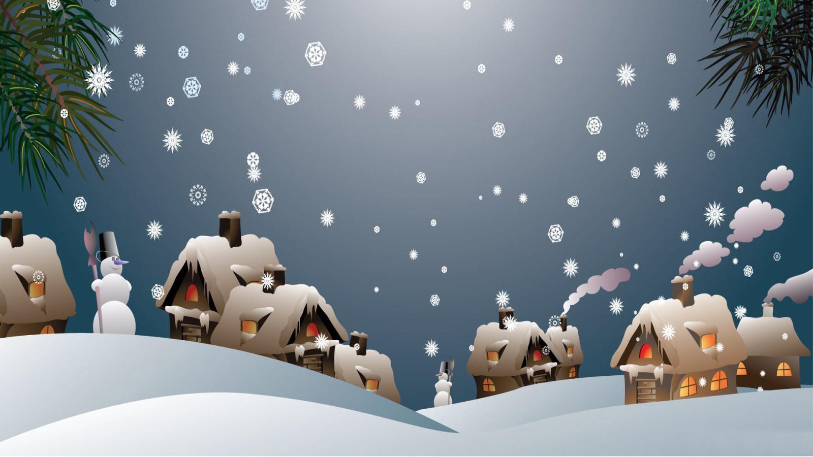 Fond d 39 ecran de noel gratuit avec neige qui tombe for Sfondi natalizi 1920x1080