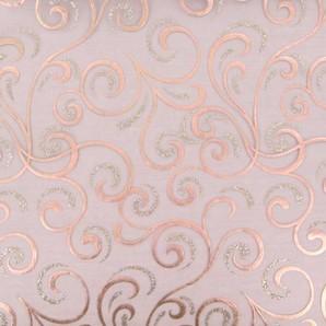 Chemin de table cheveux d´ange organza chocolat, paillettes or et argent, dorures chocolat