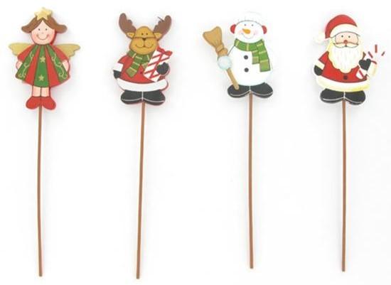 Personnage de Noël sur pique