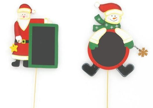 Personnage de Noël avec ardoise, 2 modèles