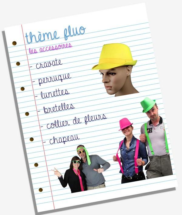 Accessoires de déguisement fluo / flashy / néon