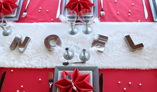... Decoration De Table De Noel Rouge Et Blanc. Excellent ...