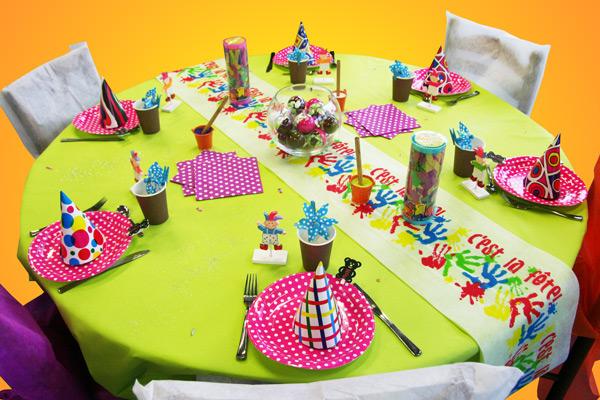 Décoration de table pour un anniversaire d\u0027enfant