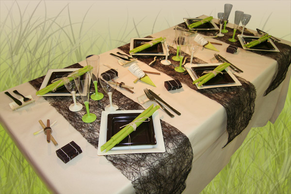 d coration de table ivoire chocolat anis d corations f tes. Black Bedroom Furniture Sets. Home Design Ideas