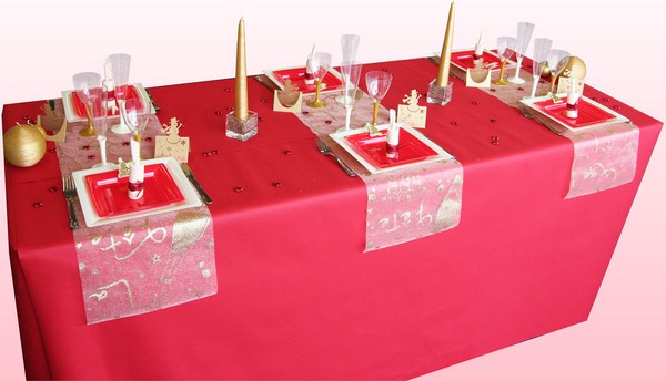 Latest Dcoration De Table De Nol With Decoration De Table Rouge Et Blanc  With Table De Noel Rouge Et Blanc