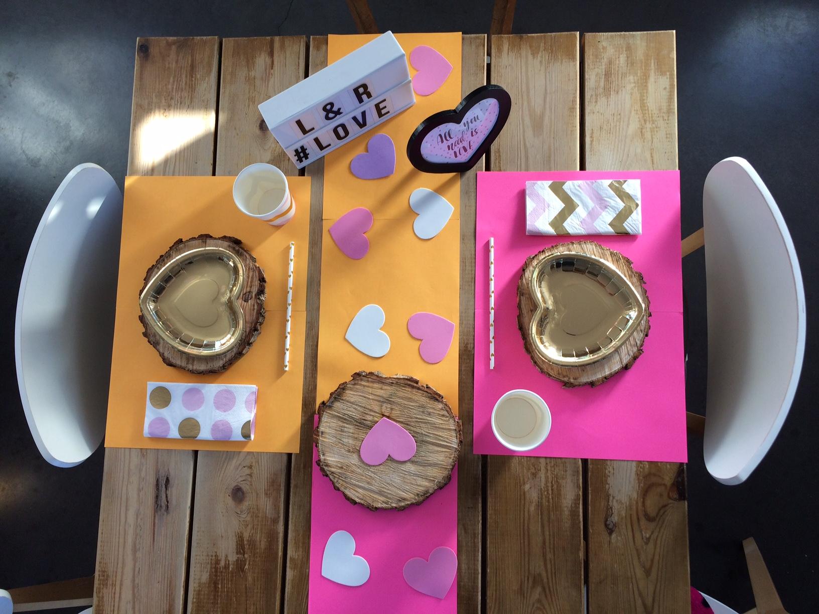 assiettes décoraiton saint valentin
